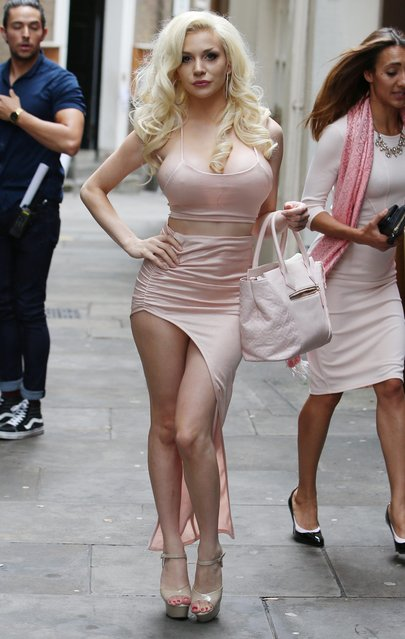 "Courtney Stodden attends the finale of ""Celebs Go Dating"" TV show filming at Dirty Martini in London, England on July 26, 2017. (Photo by Beretta/Sims/Rex Features/Shutterstock)"