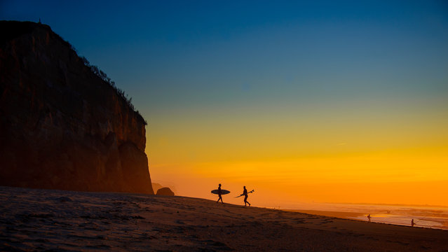 """""""Portugal Sunset"""". (Photo by Peter Wilson/2020 Nikon Surf Photography Awards)"""