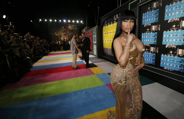 Rap artist Nicki Minaj poses as she arrives at the 2015 MTV Video Music Awards in Los Angeles, California August 30, 2015. (Photo by Mario Anzuoni/Reuters)