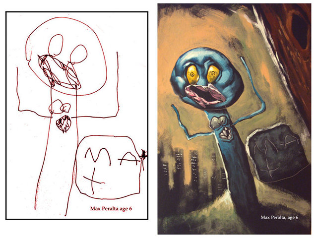 Children's Drawings Transformed by Dave Devries