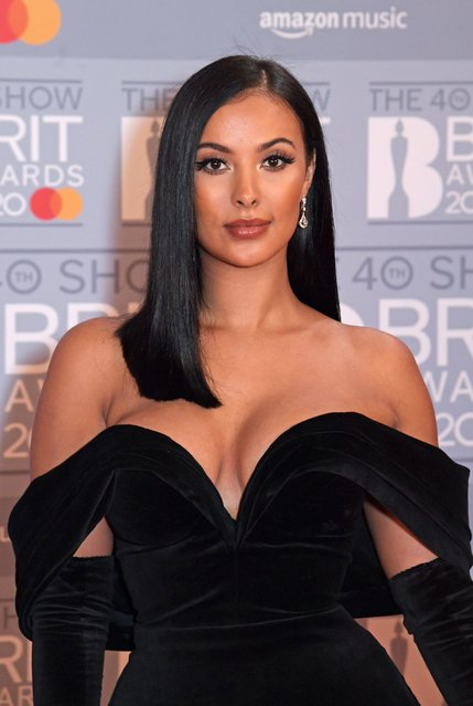 British television and radio presenter Maya Jama attends The BRIT Awards 2020 at The O2 Arena on February 18, 2020 in London, England. (Photo by David M. Benett/Dave Benett/Getty Images)