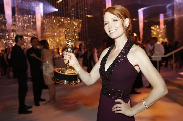 Tamara Krinsky attends the Governors Ball for the Television Academy's Creative Arts Emmy Awards at Microsoft Theater on Saturday, September 12, 2015, in Los Angeles. (Photo by Colin Young-Wolff/Invision for the Television Academy/AP Images)