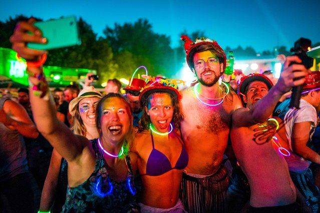 General atmosphere on Shipyard Island, the venue of the 24th Sziget (Island) Festival in Northern Budapest, Hungary, 14 August 2016. (Photo by Bielik István/Rockstar Photographers)
