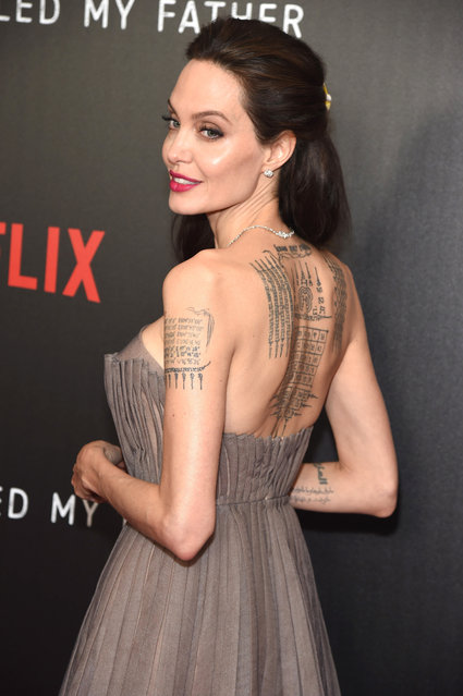 """Writer/producer/director Angelina Jolie attends the """"First They Killed My Father"""" New York premiere on September 14, 2017 in New York City. (Photo by Gary Gershoff/WireImage)"""