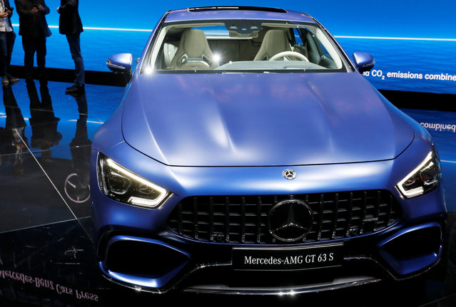 Mercedes-AMG GT 63 S is presented during the press day at the 88th Geneva International Motor Show in Geneva, Switzerland on Tuesday, March 6, 2018. (Photo by Pierre Albouy/Reuters)