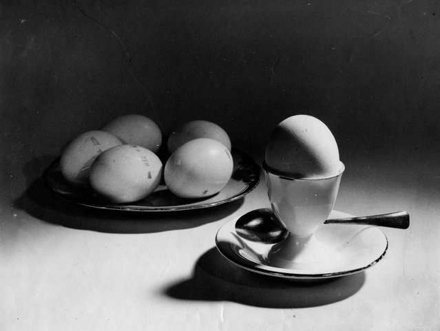 Dietary Eggs, 1939. Alexander Khlebnikov founded the Innovator Photography Club and was a pioneer of still life photography. This image of a plate of eggs is one of a number he took throughout the 1930s of household objects – from fabric to pumpkin seeds to milk bottles. (Photo by Alexander Khlebnikov/Lumiere Brothers Center for Photography)