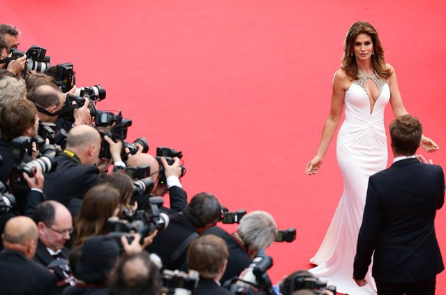 """Cindy Crawford attends the Opening Ceremony and """"The Great Gatsby"""" Premiere during the 66th Annual Cannes Film Festival at the Theatre Lumiere on May 15, 2013 in Cannes, France. (Photo by Vittorio Zunino Celotto/Getty Images)"""