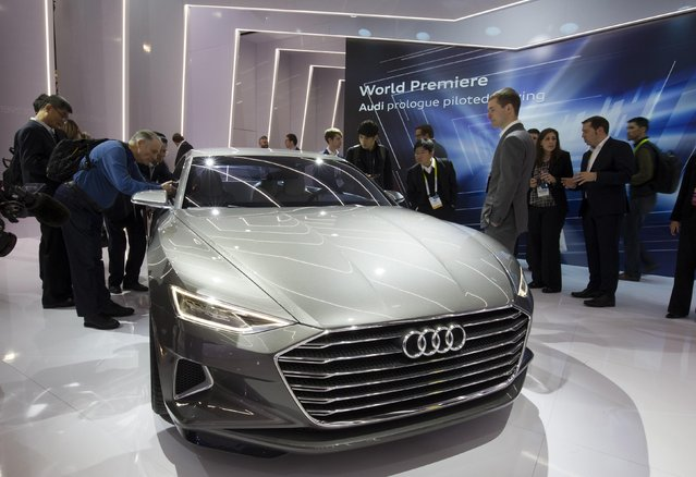 The Audi Prologue piloted driving concept car is displayed after being unveiled at the 2015 International Consumer Electronics Show (CES) in Las Vegas, Nevada January 6, 2015. (Photo by Steve Marcus/Reuters)
