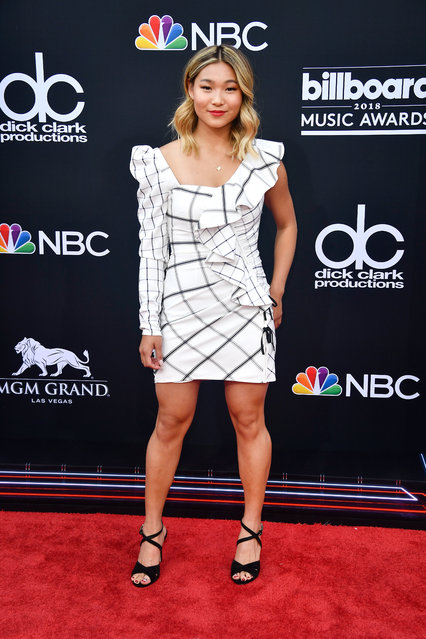 Olympic snowboarder Chloe Kim attends the 2018 Billboard Music Awards at MGM Grand Garden Arena on May 20, 2018 in Las Vegas, Nevada. (Photo by Frazer Harrison/Getty Images)