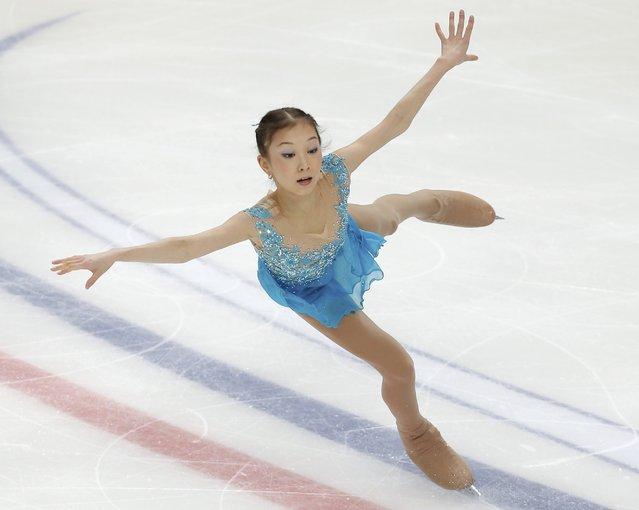 Figure Skating, ISU Grand Prix Rostelecom Cup 2016/2017, Ladies Free Skating in Moscow, Russia on November 5, 2016. Elizabet Tursynbaeva of Kazakhstan competes. (Photo by Maxim Shemetov/Reuters)