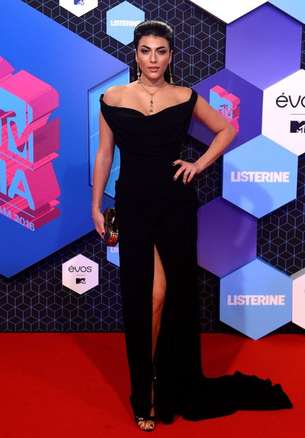 Giulia Salemi attends the MTV Europe Music Awards 2016 on November 6, 2016 in Rotterdam, Netherlands. (Photo by Anthony Harvey/Getty Images for MTV)