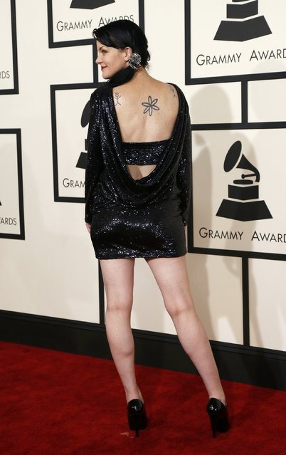 Actress Pauley Perrette arrives at the 57th annual Grammy Awards in Los Angeles, California February 8, 2015. (Photo by Mario Anzuoni/Reuters)