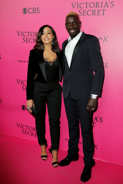 French soccer player Mamadou Sakho and Majda Sakho pose during a photocall before the 2016 Victoria's Secret Fashion Show at the Grand Palais in Paris, France, November 30, 2016. (Photo by Benoit Tessier/Reuters)