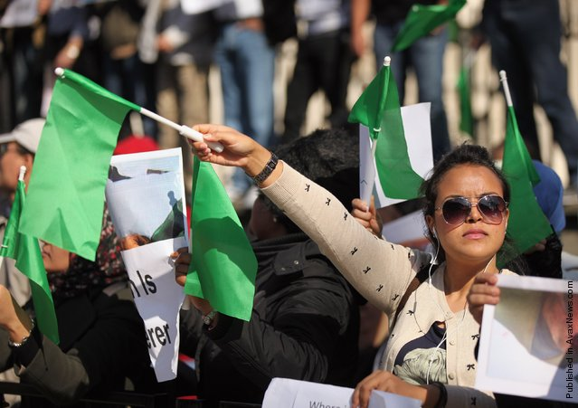 Protestors Demonstrate Against The UN Intervention In Libya