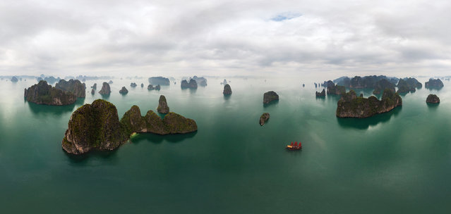 Ha Long, Vietnam. (Photo by Airpano/Caters News)