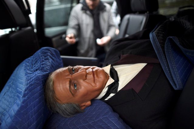 A wax figure of President Zachary Taylor is placed in the back of a truck after it was  purchased from an auction of the Hall of Presidents Museum, which closed in November, in Gettysburg, Pennsylvania, U.S. January 14, 2017. (Photo by Mark Makela/Reuters)