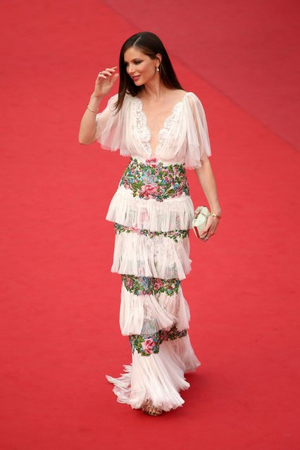 """Designer Georgina Chapman attends the closing ceremony and Premiere of """"La Glace Et Le Ciel"""" (Ice And The Sky) during the 68th annual Cannes Film Festival on May 24, 2015 in Cannes, France. (Photo by Neilson Barnard/Getty Images)"""
