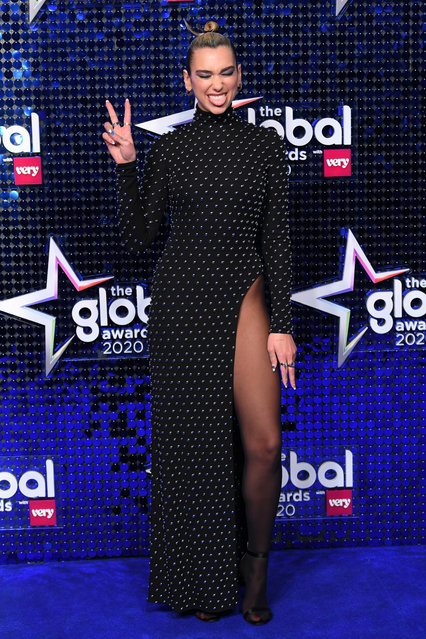 Dua Lipa attends The Global Awards 2020 at Eventim Apollo, Hammersmith on March 05, 2020 in London, England. (Photo by David Fisher/Rex Features/Shutterstock)