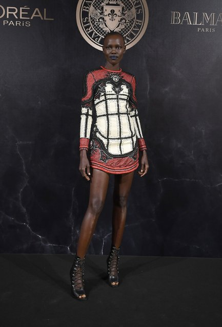Grace Bol attends the L'Oreal Paris X Balmain event  as part of the Paris Fashion Week Womenswear  Spring/Summer 2018 on September 28, 2017 in Paris, France. (Photo by Pascal Le Segretain/Getty Images)