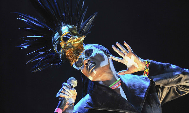 Grace Jones performs in concert at The Greek Theatre on August 27, 2016 in Berkeley, California. (Photo by Steve Jennings/WireImage)