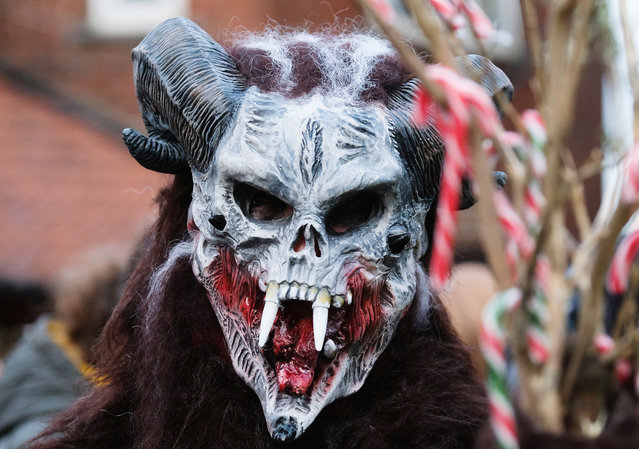 Participants take part in the Whitby Krampus parade on December 2, 2017 in Whitby, England. (Photo by Ian Forsyth/Getty Images)