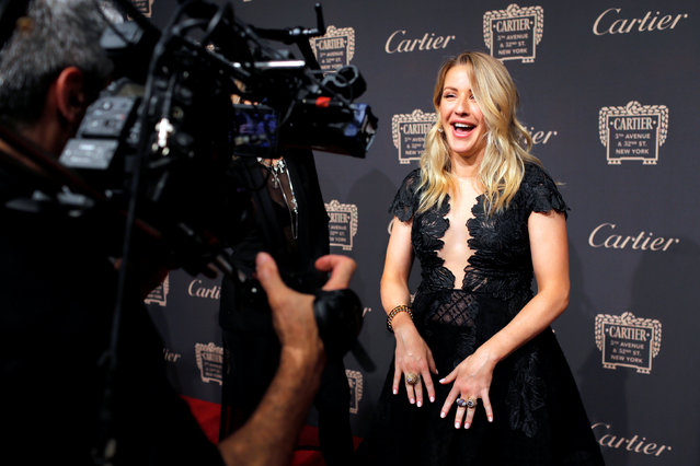 Musician Ellie Goulding attends the Cartier Fifth Avenue Mansion Reopening Party at Cartier Mansion during New York Fashion Week in Manhattan, New York, U.S., September 7, 2016. (Photo by Andrew Kelly/Reuters)