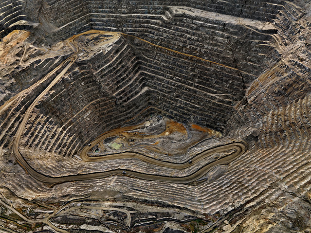 Highland Valley #8, Teck Cominco, Open Pit Copper Mine, Logan Lake, British Columbia, Canada, 2008. (Photo by Edward Burtynsky/Metivier Gallery, Toronto/Flowers Gallery, London)