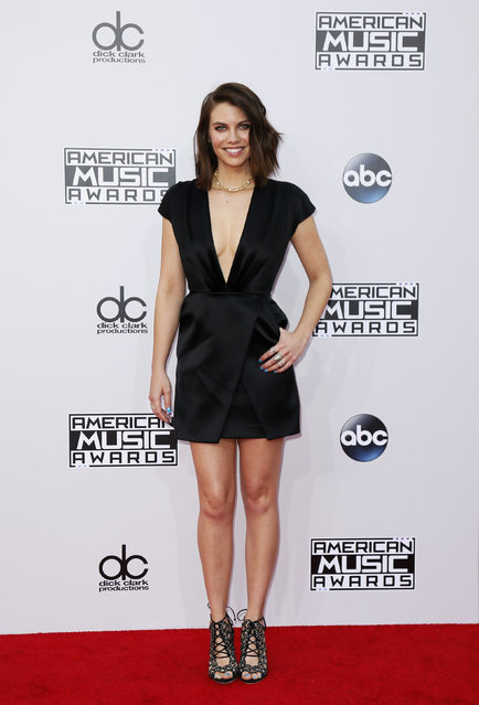 Actress Lauren Cohen arrives at the 42nd American Music Awards in Los Angeles. (Photo by Danny Moloshok/Reuters)