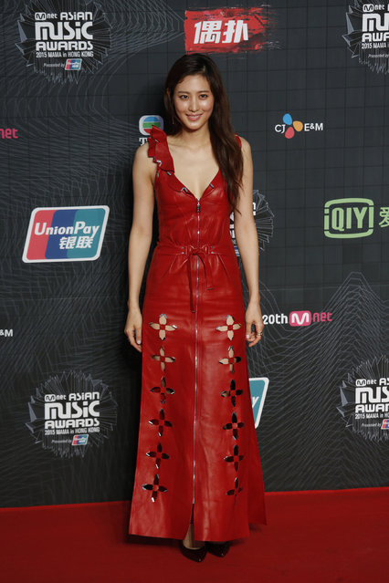 South Korean actress Claudia Kim poses on the red carpet during 2015 Mnet Asian Music Awards (MAMA) in Hong Kong, China, December 2, 2015. (Photo by Bobby Yip/Reuters)