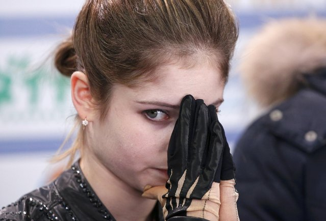 Figure Skating, ISU Grand Prix Rostelecom Cup 2016/2017, Ladies Free Skating in Moscow, Russia on November 5, 2016. Julia Lipnitskaia of Russia reacts after her performance. (Photo by Grigory Dukor/Reuters)