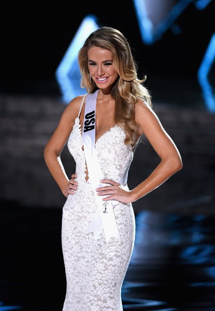 Miss USA 2015, Olivia Jordan, is named a top three finalist during the 2015 Miss Universe Pageant at The Axis at Planet Hollywood Resort & Casino on December 20, 2015 in Las Vegas, Nevada. (Photo by Ethan Miller/Getty Images)