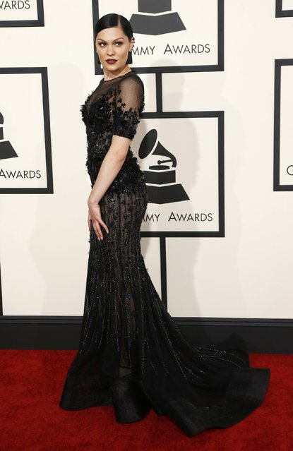 Singer Jessie J arrives at the 57th annual Grammy Awards in Los Angeles, California February 8, 2015. (Photo by Mario Anzuoni/Reuters)