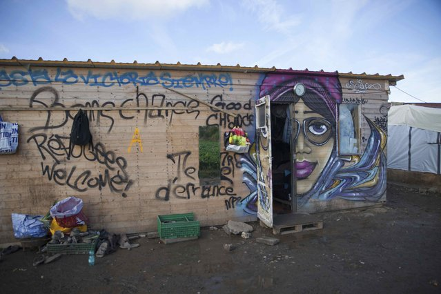 Exterior view of a shelter that houses around 60 female migrants, mainly from Eritrea and Ethiopia, is seen at the camp in Norrent-Fontes, about 70km from Calais, France, October 21, 2016. The women staying there say it is much safer for them away from Calais town port. Picture taken October 21, 2016. (Photo by Sally Hayden/Thomson Reuters Foundation)