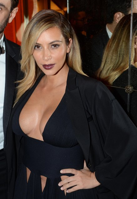 """Kim Kardashian at the """"Mademoiselle C"""" cocktail party held at Pavillon Ledoyen in Paris, France, October 01, 2013. (Photo by INFphoto.com)"""