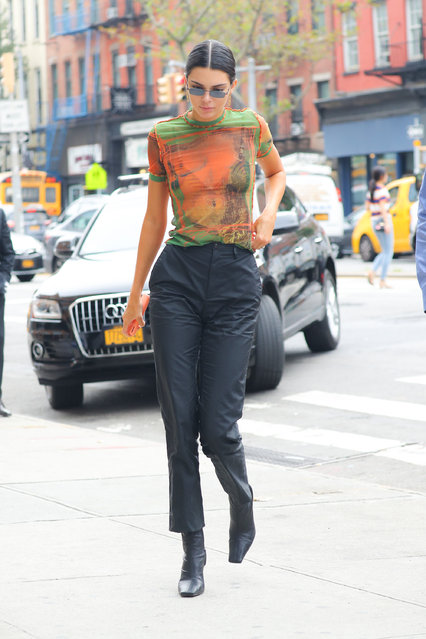 Kendall Jenner was spotted out and about during fashion week in New York City on September 7, 2018. (Photo by Felipe Ramales/Splash News and Pictures)