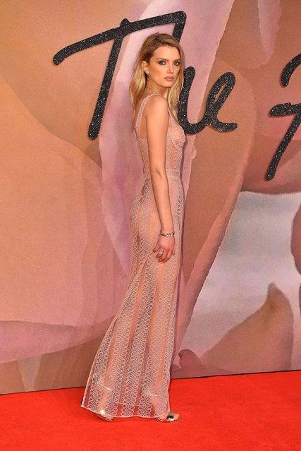 Lily Donaldson attends The Fashion Awards 2016 on December 5, 2016 in London, United Kingdom. (Photo by PA Wire)