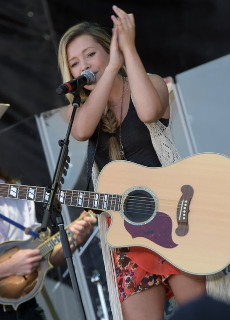 Singer/Songwriter Tae of Maddie & Tae perform at Country Thunder USA – Day 2, April 10, 2015 in Florence, Arizona. (Photo by Rick Diamond/Getty Images for Country Thunder USA)