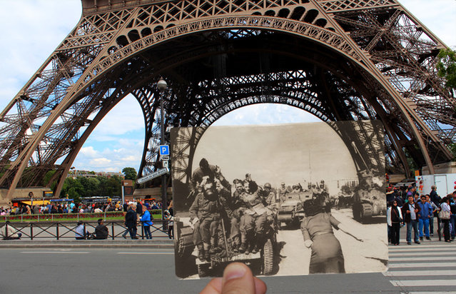 The Eiffel Tower in 1940. (Photo by Julien Knez/Caters News)