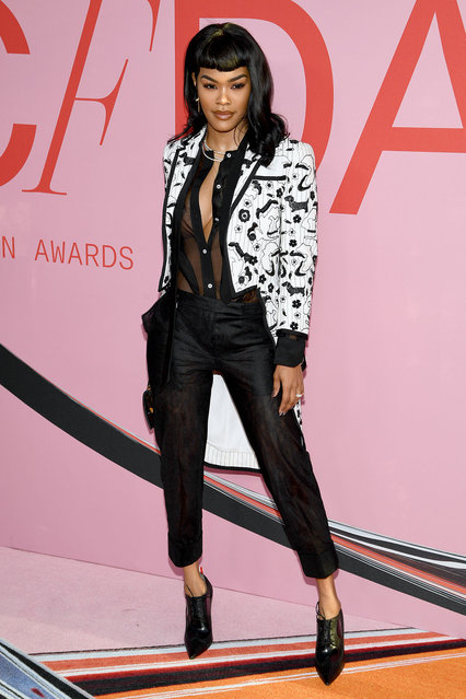 Teyana Taylor attends the CFDA Fashion Awards at the Brooklyn Museum of Art on June 03, 2019 in New York City. (Photo by Dimitrios Kambouris/Getty Images)