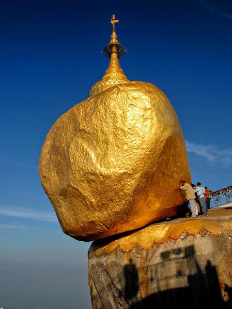 Kyaiktiyo Pagoda AKA  Golden Rock In Burma