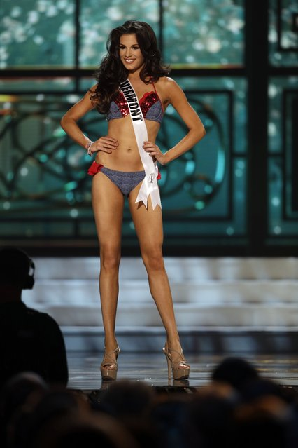 Miss Vermont, Jackie Croft, competes in the bathing suit competition during the preliminary round of the 2015 Miss USA Pageant in Baton Rouge, La., Wednesday, July 8, 2015. (Photo by Gerald Herbert/AP Photo)