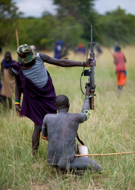 There's been a reported worrying increase in tribes people bringing guns to the contests. (Photo by Eric Lafforgue/Exclusivepix Media)