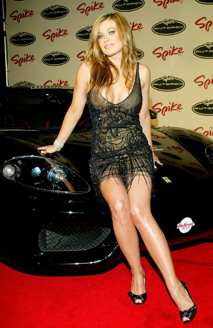 Actress Carmen Electra arrives to the Spike TV Presents Auto Rox: The Automotive Award Show at the Barker Hanger Airport on January 22, 2005 in Santa Monica, California. (Photo by Matthew Simmons)