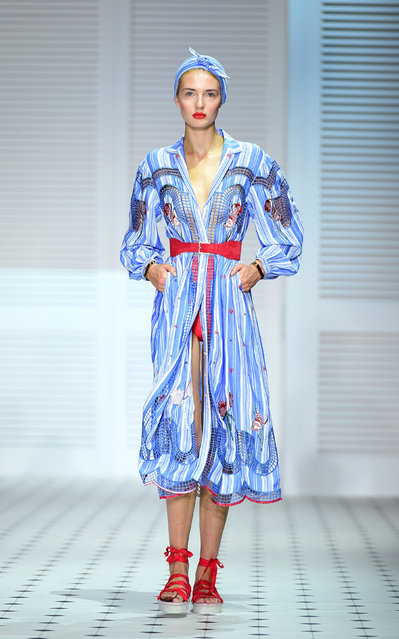 Romy Elema on the catwalk during the Temperley London Fashion Week SS18 show held at Lindley Hall, London on September 17, 2017. (Photo by Ian West/PA Wire via AP Photo)