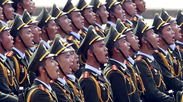 Members of public security force march during a parade marking Vietnam's 70th National Day at Ba Dinh square in Hanoi, Vietnam September 2, 2015. (Photo by Reuters/Kham)