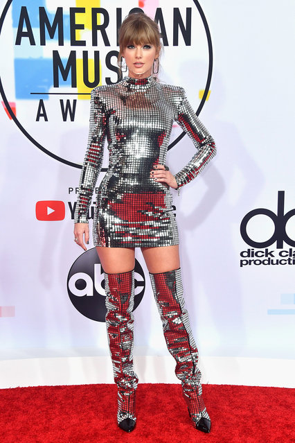 Taylor Swift attends the 2018 American Music Awards at Microsoft Theater on October 9, 2018 in Los Angeles, California. (Photo by Frazer Harrison/Getty Images)