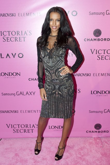 Model Jasmine Tookes attends Samsung Galaxy features arrivals at the official Victoria's Secret fashion show after party on November 7, 2012 in New York City. (Photo by Slaven Vlasic)