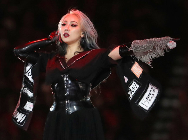South Korean singer CL performs during the closing ceremony of the PyeongChang Winter Olympic Games at the Olympic Stadium in Pyeongchang, South Korea, on February 25, 2018. (Photo by Lucy Nicholson/Reuters)