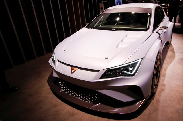 Cupra e-Racer is presented during the press day at the 88th Geneva International Motor Show in Geneva, Switzerland on Tuesday, March 6, 2018. (Photo by Denis Balibouse/Reuters)