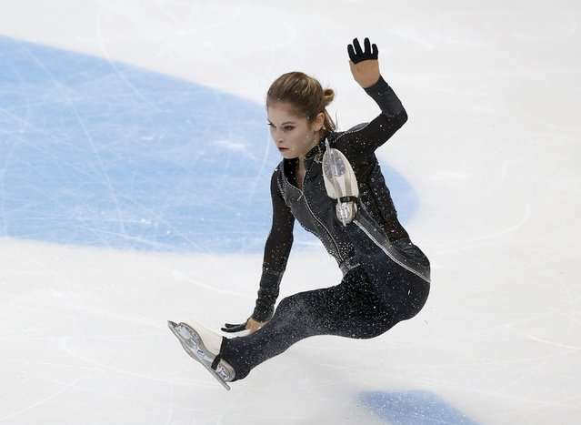 Figure Skating, ISU Grand Prix Rostelecom Cup 2016/2017, Ladies Free Skating in Moscow, Russia on November 5, 2016. Julia Lipnitskaia of Russia falls down during the competition. (Photo by Maxim Shemetov/Reuters)